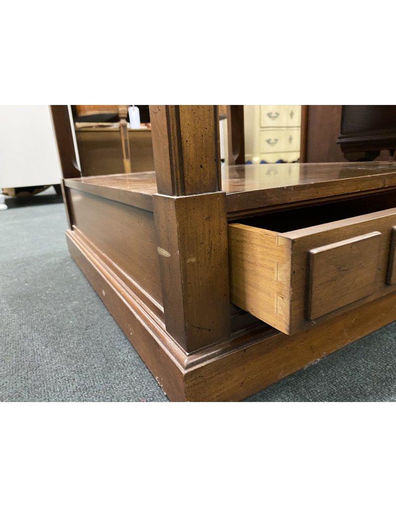 Dark Wood 2 Tier Side Table
