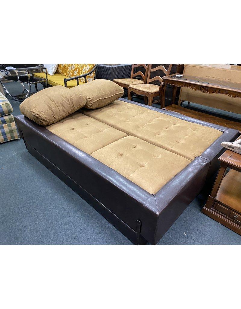 Brown Flip Sofa/Sleeper
