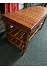 Small Wood Shoe Bench
