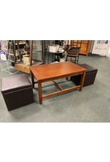 Coffee Table and 2 Ottomans w/ Storage