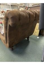 Large Brown Lounger w/ Nailhead Trim