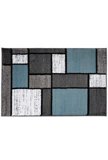Barroso Geometric Blue/Gray/White Area Rug
