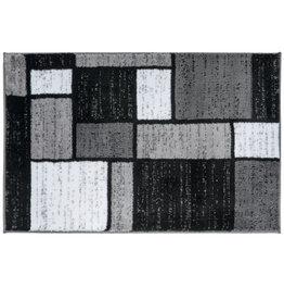 Lorenzo Geometric Gray/Black/White Area Rug