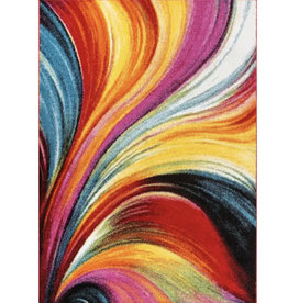 Brooksville Abstract Red Area Rug