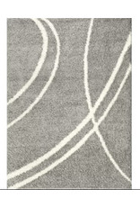 Caressa Abstract Shag Light Gray Area Rug