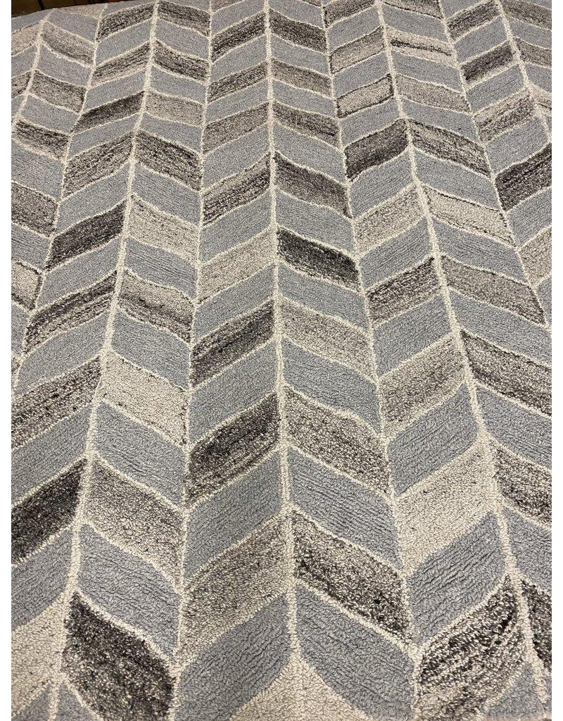 Nit Geometric Handmade Tufted Gray Area Rug