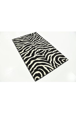 Subramanya Animal Print Handmade Tufted Black Area Rug