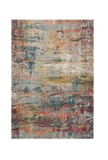 Muhan Abstract Teal/Orange Area Rug