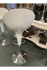 White Molded Modern Bar Stool