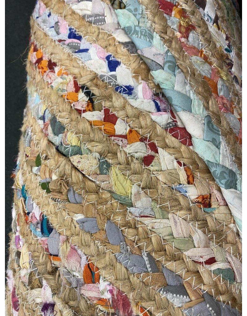 Francisco Handmade Flatweave Cotton Beige/Multicolor Area Rug
