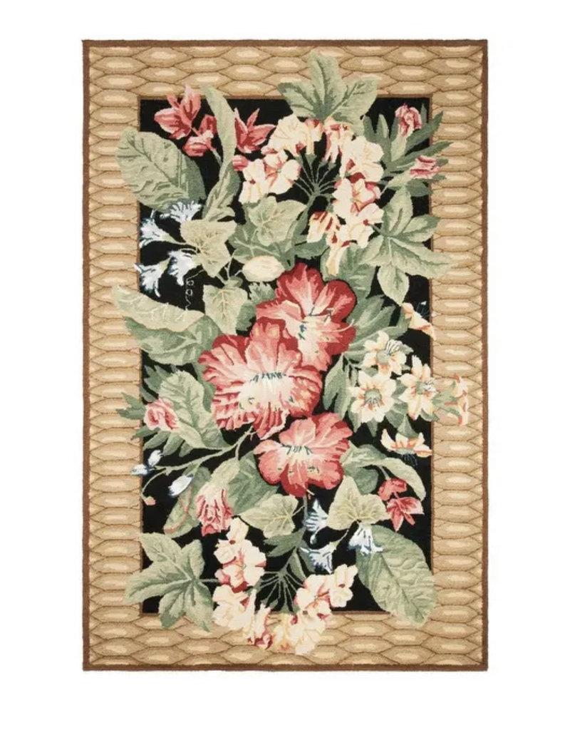 Hand-hooked Chelsea Yajaira Country Oriental Wool Rug