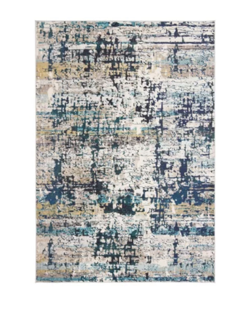Neasa Abstract Cream Blue Rug