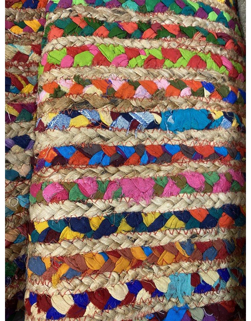 Handmade Cape Cod Marget Boho Coastal Jute Rug