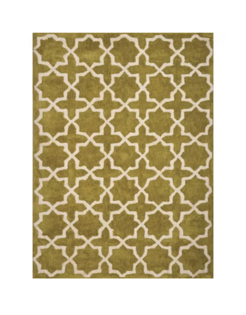 Cranmore Hollis Hand-Tufted Chartreuse Arera Rug