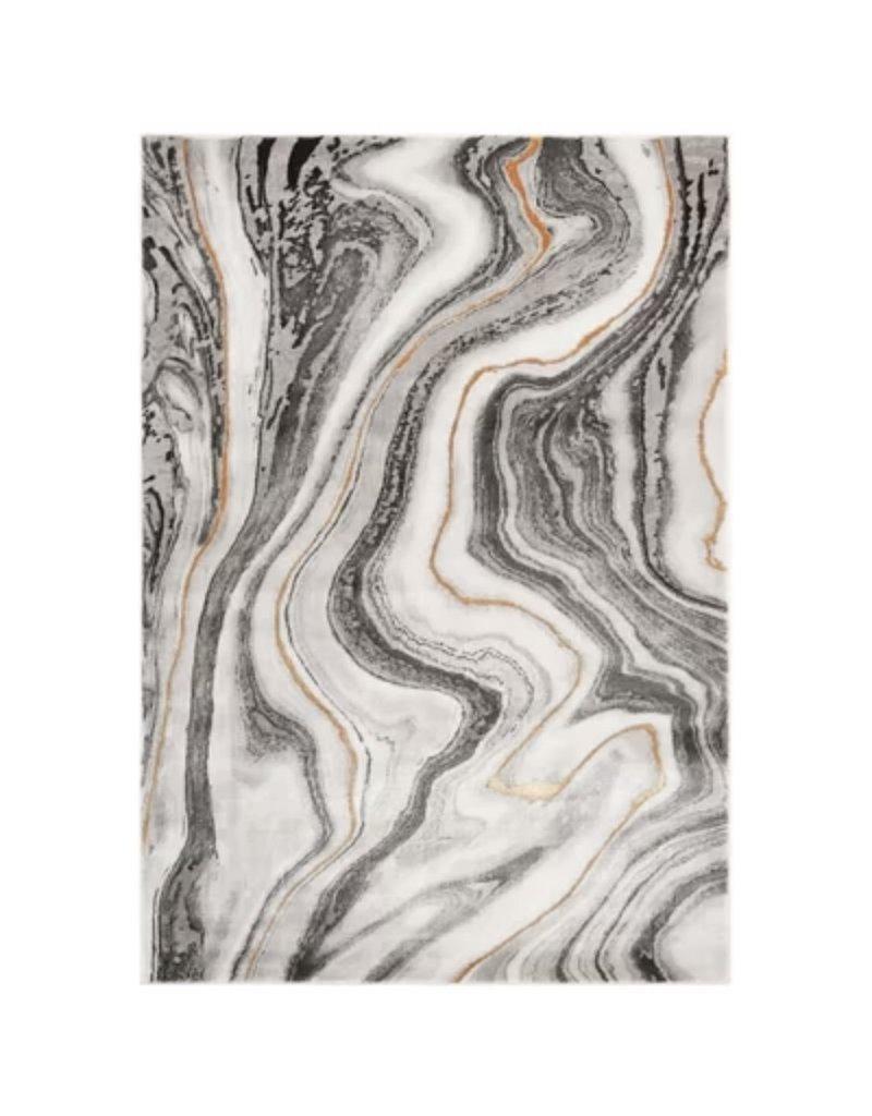 Coupland Abstract Gray Area Rug