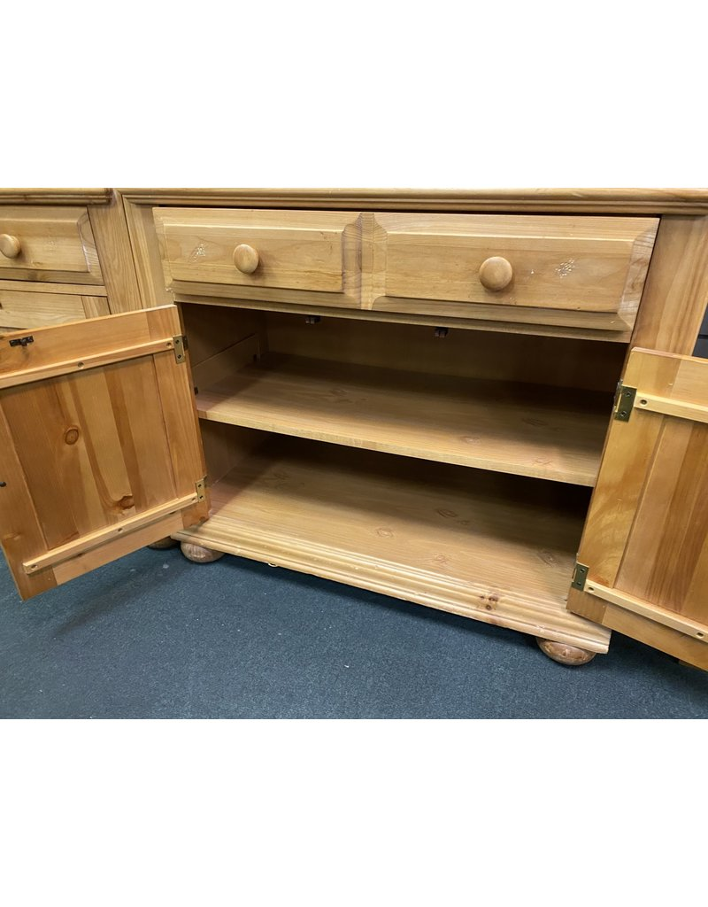 Blonde Bookshelf w/ Cabinet Bottom