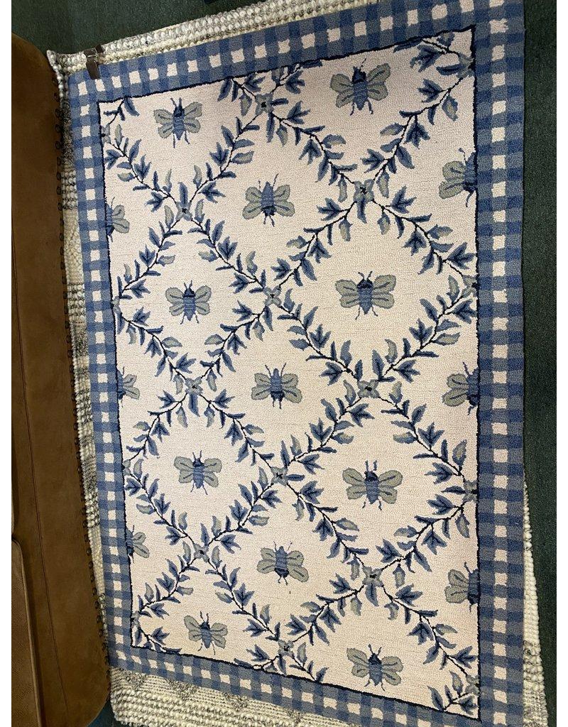Chelsea Hand-Hooked Wool Ivory Area Rug