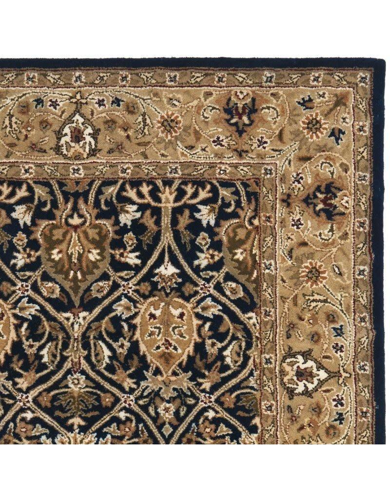 Evie Oriental Handmade Tufted Wool Blue/Gold Area Rug