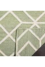 Rodgers Handwoven Flatweave Wool Sage/Ivory Area Rug