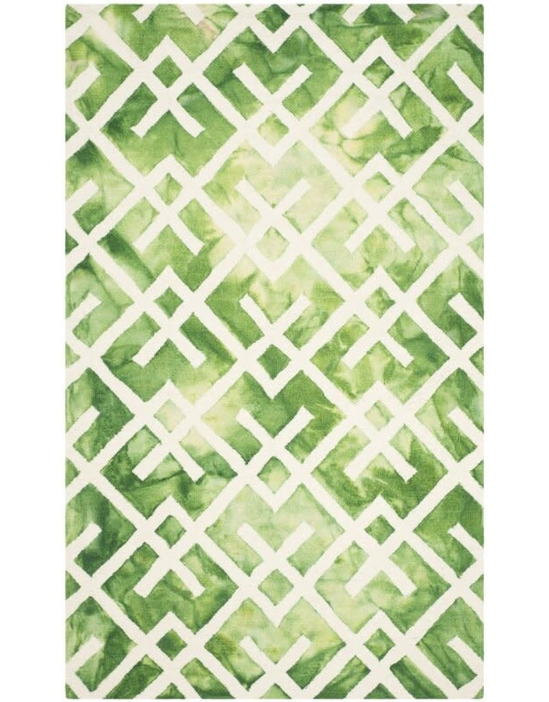 Jawhar Handwoven Cotton/Wool Green/Ivory Area Rug