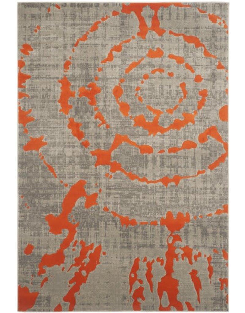 Deasia Light Gray/Orange Area Rug