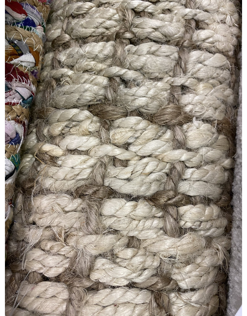 Crick Handmade Tufted Jute/Sisal Ivory/Light Brown Area Rug