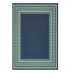Kailani Navy/Green Indoor / Outdoor Area Rug