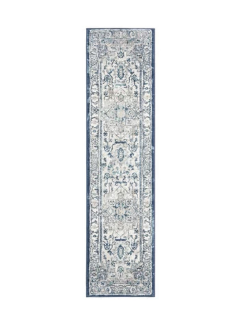 Lamartine Light Gray/Blue Area Rug