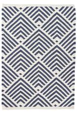 Amina Geometric Blue Indoor/Outdoor Area Rug