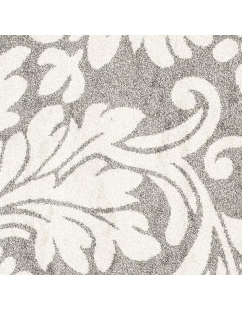 Maritza Floral Dark Grey / Beige Area Rug