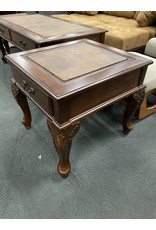 Dark Wood Tall Table w/ Map Design