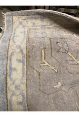 Oushak Hand Knotted Wool Blue Rug