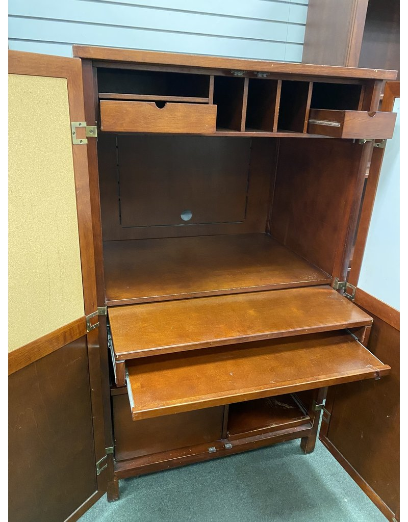 Dark Wood Hideaway Desk