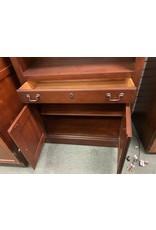 Dark Wood Bookcase w/ Drawer and Cabinet Door