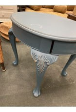 Blue Moon Painted Queen Anne Side Table