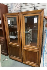 Dark Wood Cabinet w/ Glass Door