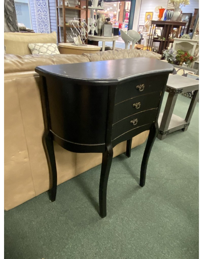 Black  3 Drawer Tall Stand