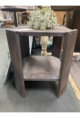 Gray Stained Oak Side Table