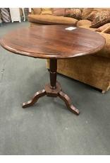 Solid Wood Pedestal Flip Top