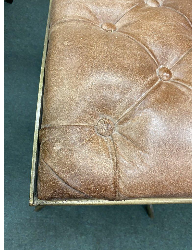 Leather Swivel Stool