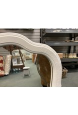 French Style White Painted Mirror