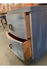 Blue / Aqua Painted  2 Drawer Nightstand