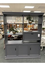 Gray Painted Open Shelf Wall Unit