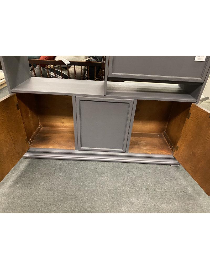 Gray Painted Open Shelf Wall Unit