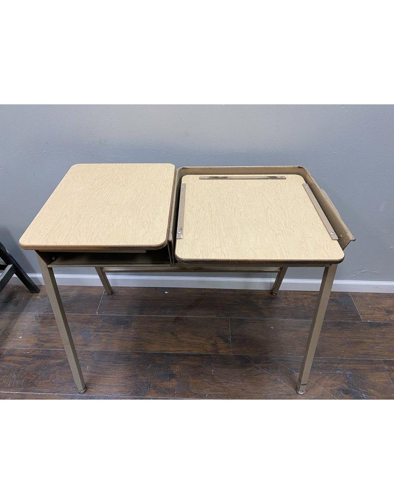 Tan Vintage Printer Table