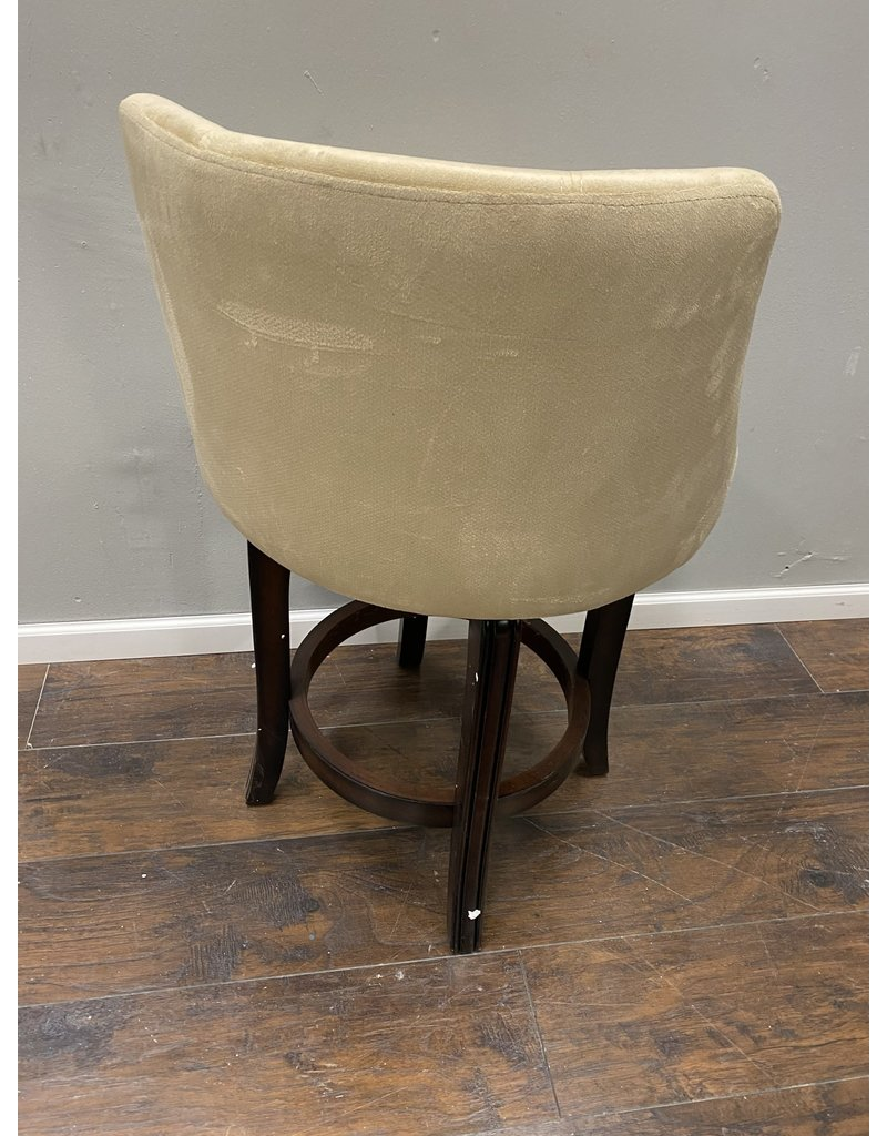 Cream Upholstered Counter Height Stool