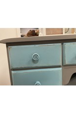 Gray and Teal Painted Vanity