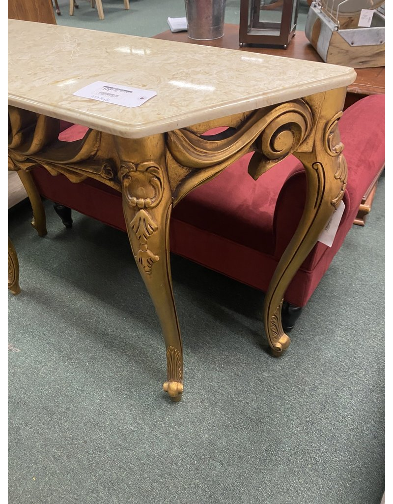 Marble Top Gold Sofa Table