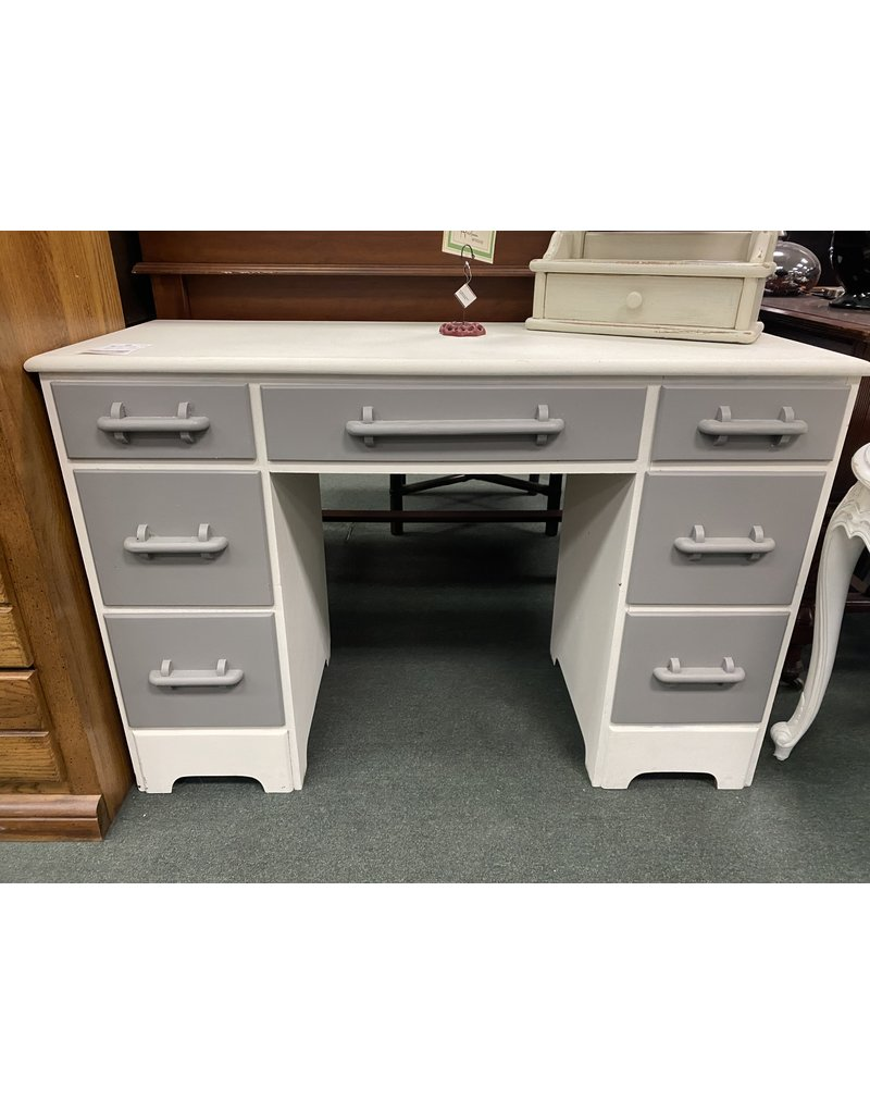 Gray and White Two Tone Desk