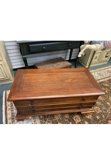 Dark Wood Coffee Table w/ Drawers